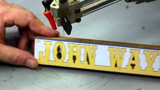 Scroll Saw Word Art Desk Plaque Tutorial, Diy