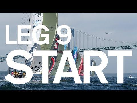 Leg 9 Start – Newport to Cardiff – Full Replay   Volvo Ocean Race