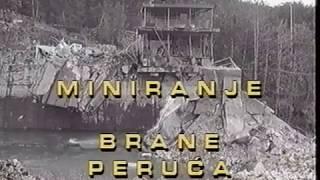 Miniranje brane Peruća