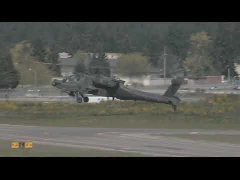 AH 64 Apache and UH 60 Black Hawk Helicopters Arrive At U.S. /Mexico Border