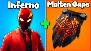 "7 BEST ""INFERNO"" SKIN + BACKBLING COMBOS in Fortnite! (new inferno pack)"