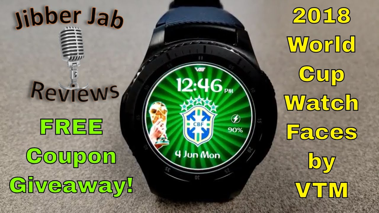 da40cac3719 Samsung Gear S3 Gear Sport World Cup Watch Faces by VTM - FREE Coupon  Giveaway! Jibber Jab Reviews!