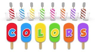 Learn Colors with Ice Cream Popsicle and Color Balls - Colors Videos Collection