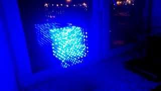 3D LED куб 8x8x8 (3D8S)(Демонстрация работы 3D LED куба 8х8х8 (512 светодиодов)., 2015-01-07T20:18:00.000Z)