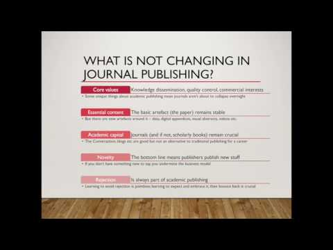 Publishing in Academic Journals Part 1 of 4: Trends