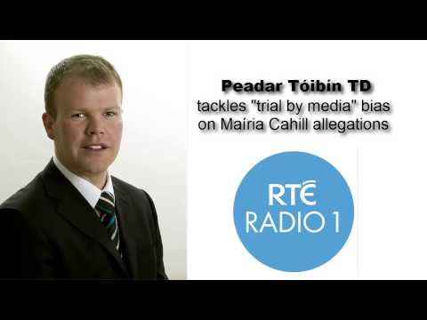 "Peadar Tóibín confronts RTÉ bias and ""trial by media"""