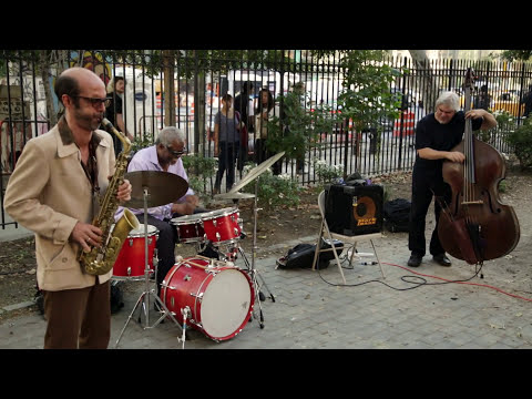 Michael TA Thompson Trio - First St. Green, NYC - Un-Columbus Day 2015