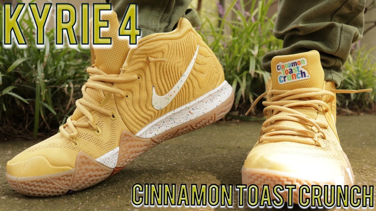 new product 7faf1 de8ef Nike Kyrie 4 Cinnamon Toast Crunch Review & Gas On Feet!!
