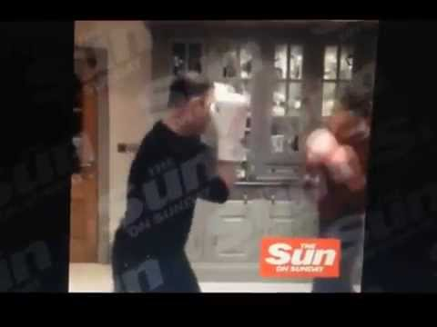 Wayne Rooney KO by Phil Bardsley Boxing in the Kitchen