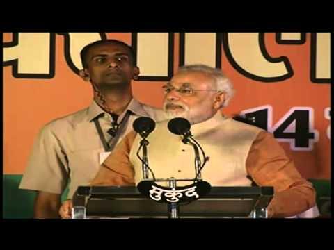 Shri Narendra Modi addressing a massive Public Meeting in Raipur, Chhattisgarh