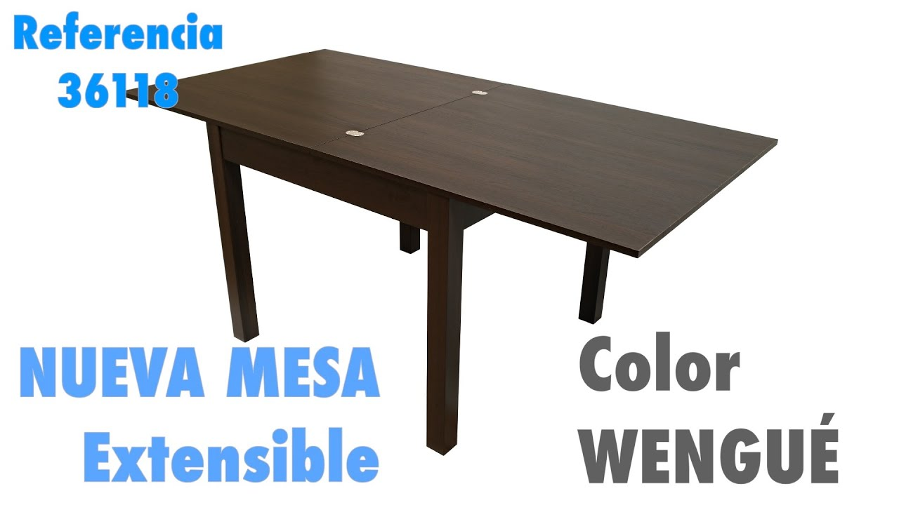 Mesa extensible wengue o cerezo de salon comedor 90 - Mesa extensible salon ...