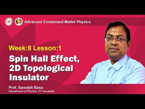 Spin Hall effect, 2D topological insulator