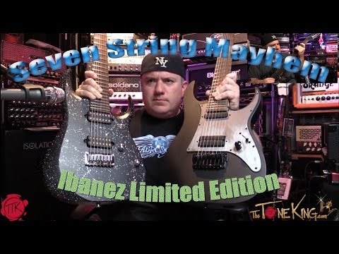 IBANEZ LIMITED EDITION 7 STRING GUITARS!  APEX20 & KOMRAD20 : MONKY & HEAD from KoRn