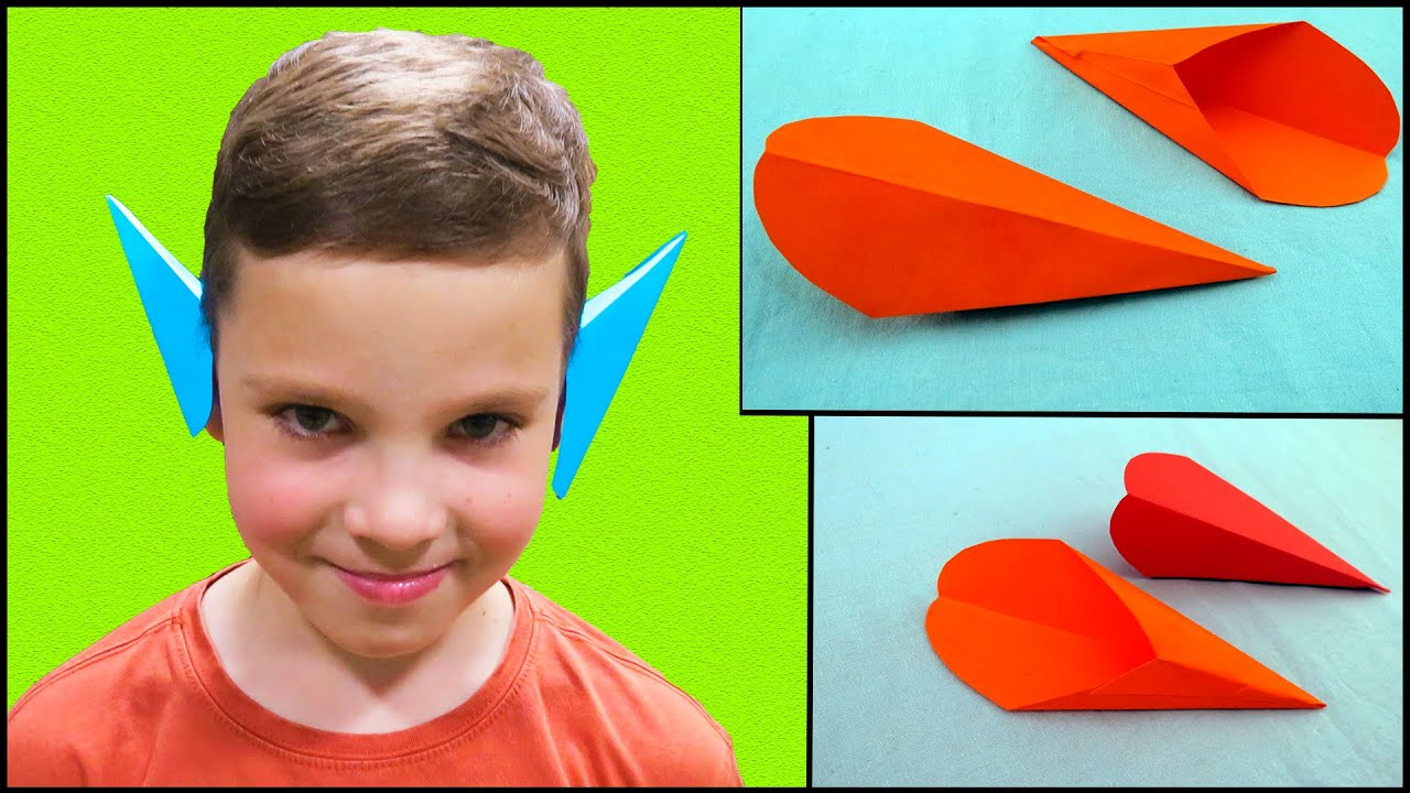 Ушки эльфа из бумаги | поделки из бумаги | легкое оригами для детей |оригами.