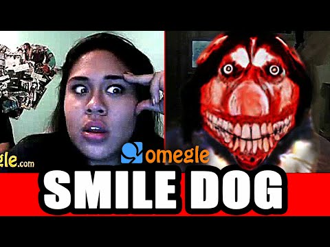 Smile Dog Scares On Omegle!