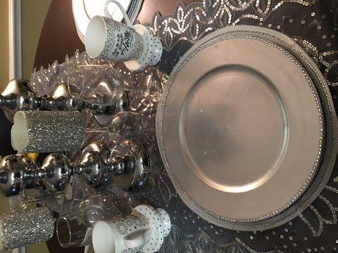 DIY/Velas y platos para decorar tu mesa de Fin de Año.