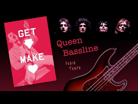 Queen Bass Line - Get Down Make Love - with score, tab and play along