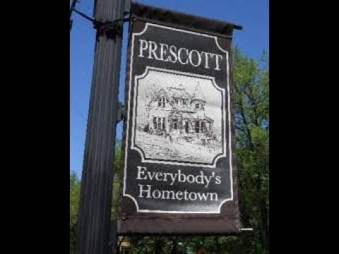 DownTown Prescott , The Square and Courthouse all by Drone