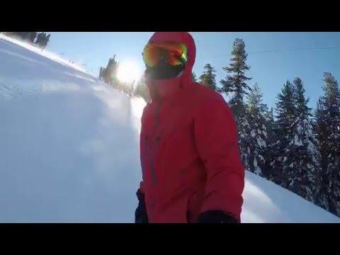 Bansko 2016 Snowboarding Red & Black Slopes