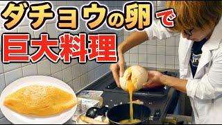 【料理】ダチョウの卵で巨大オムライス作りたい!!!
