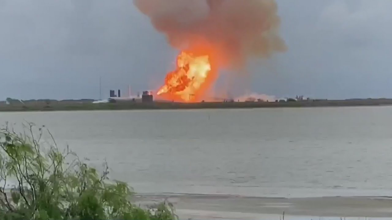 Explosion at SpaceX South Texas facility caught on camera