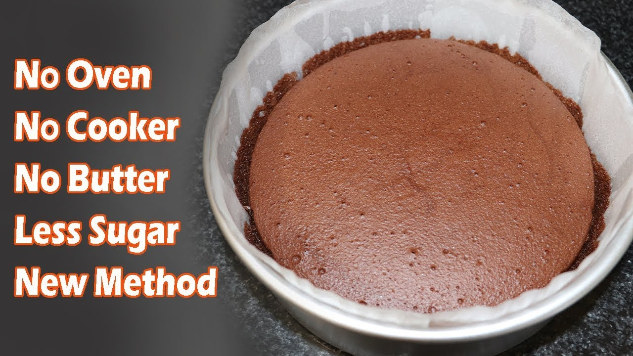 How To Make Cake Without Oven - Chocolate Cake No Oven No Butter / kamikoto  (HUMA IN THE KITCHEN)