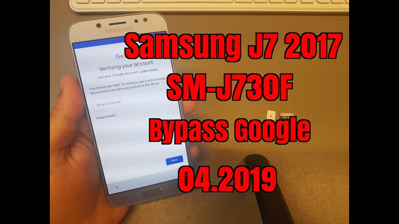 Samsung J7 2017 SM-J730F Remove Google account bypass FRP Without PC