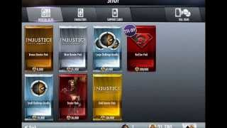 Repeat youtube video Injustice: 75 gold booster pack glitch (Maybe Patched and read description, don't watch)