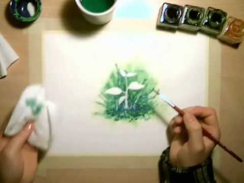 How To Use Masking Fluid In Watercolor Paintings Youtube