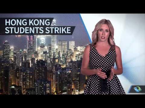 Hong Kong University Students Boycott Class in Democracy Protests