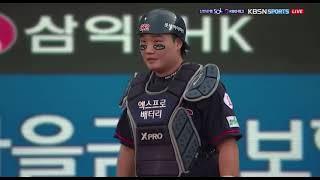 210711 구자욱 폭투로 홈인 (롯데전 투수 스트레일…