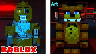 Finding Chained Badge and Minecraft Freddy Fazbear in Roblox FNAF RP