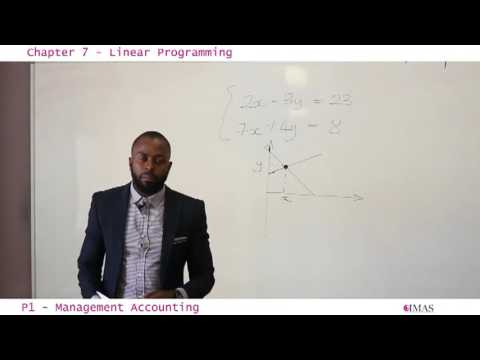 CIMA P1  Chapter 7 Liner Programming Part 1