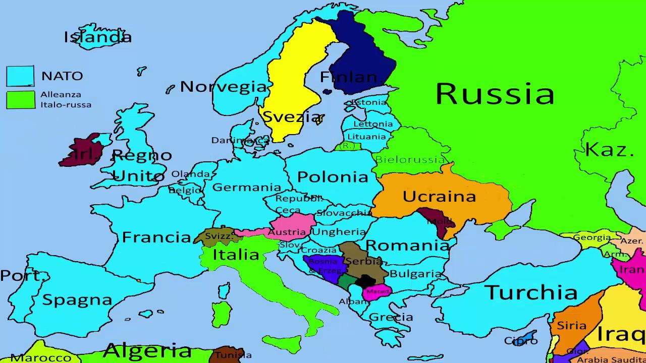 Cartina Europa E Russia.Futuro Realistico Dell Europa E Del Mondo Ep 1 L Asse Russia Italia Youtube