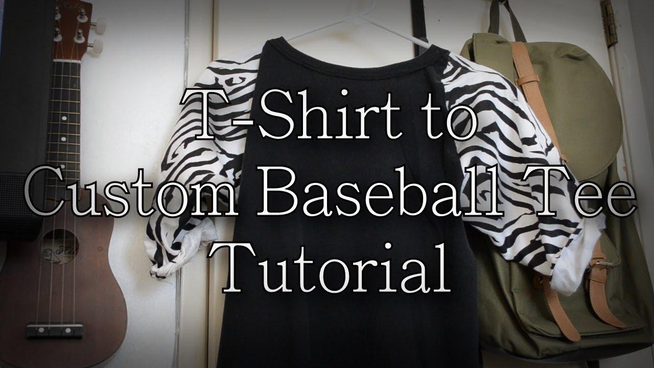 Diy T Shirt To Custom Baseball Tee Tutorial Kad Customs 6 Youtube