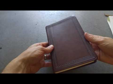 ESV Large Print Value Thinline Bible in TruTone Mahogany