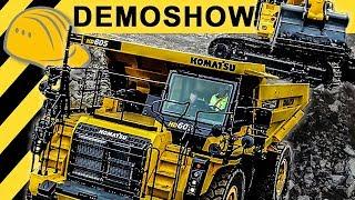 XXL Baumaschinen in Action - Steinexpo  Demoshow | Bauforum24