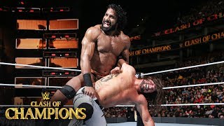 AJ Styles fights through the pain against Jinder Mahal: WWE Clash of Champions 2017