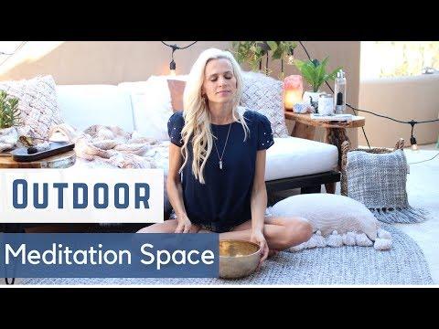 OUTDOOR MEDITATION SPACE | DiY Meditation Terrace Makeover