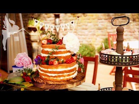 Making Of Naked Cake Hochzeitstorte Macarons Cupcakes Boho