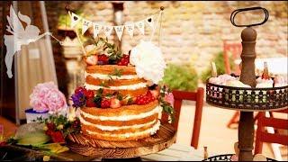 Making-of Naked Cake Hochzeitstorte + Macarons & Cupcakes - Boho Hochzeitstorte - Kuchenfee