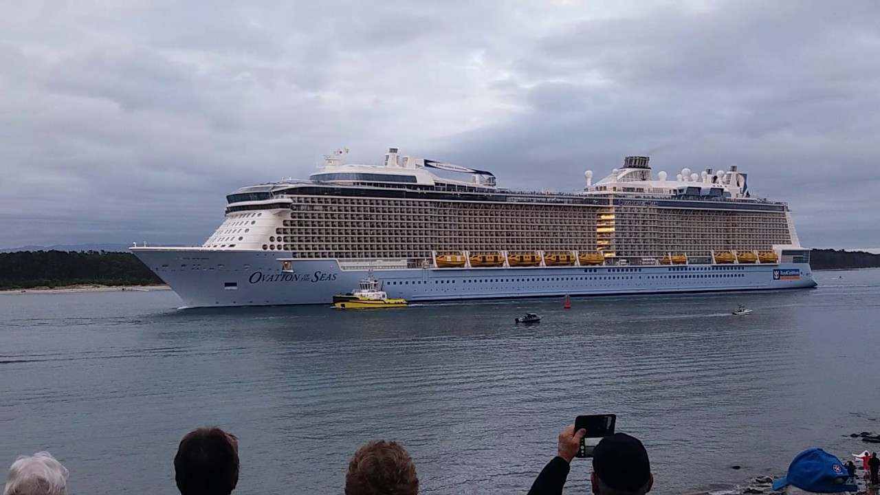Ovation Of The Seas Enters Port Of Tauranga  YouTube