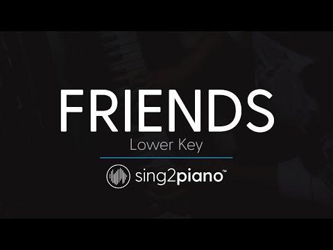 FRIENDS (LOWER Piano Karaoke) Marshmello & Anne-Marie