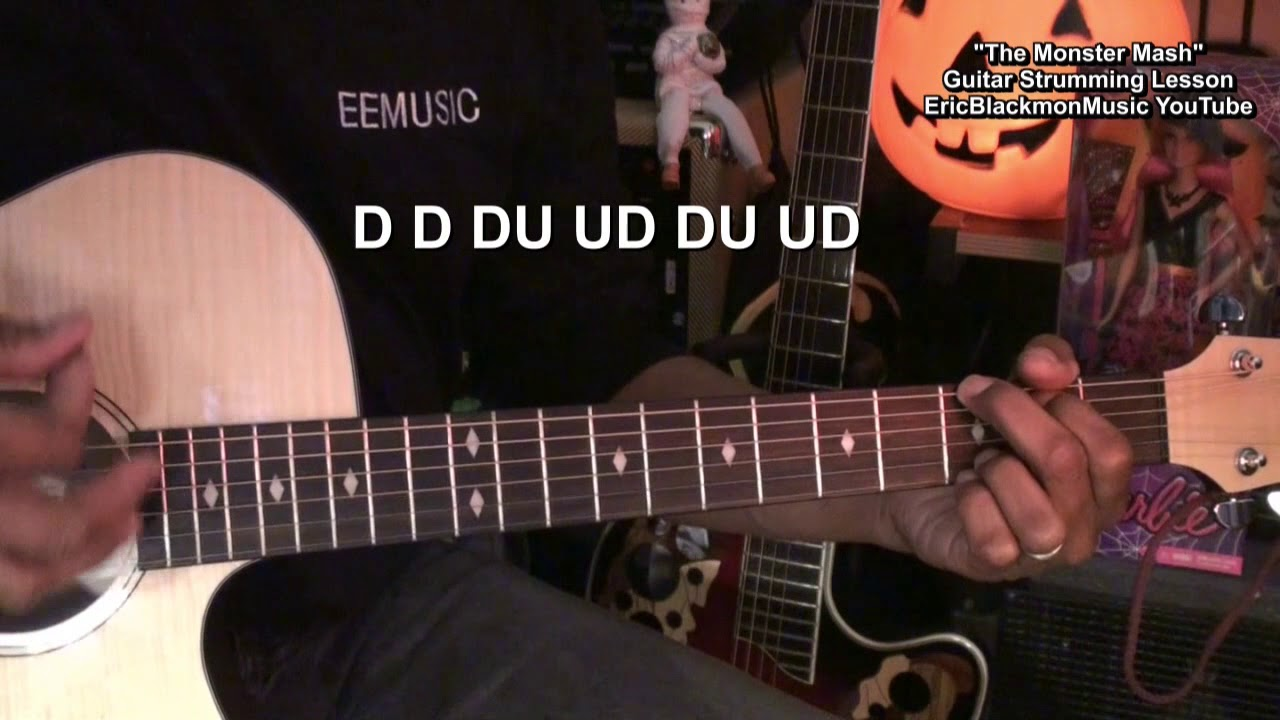 How To Play The Monster Mash Guitar Strumming Pattern Tutorial