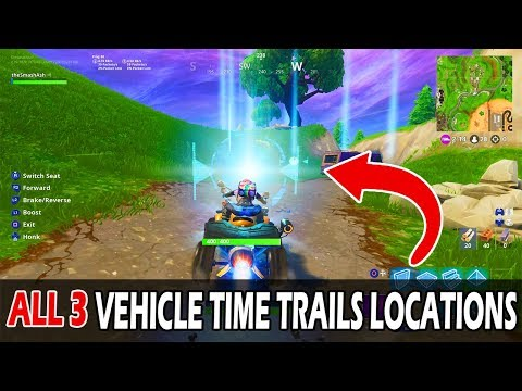 COMPLETE VEHICLE TIME TRIALS ALL 3 LOCATIONS - FORTNITE SEASON 6 WEEK 10 CHALLENGES