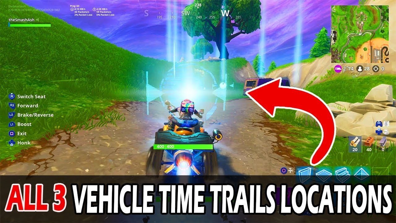 Complete Vehicle Time Trials All 3 Locations Fortnite Season 6