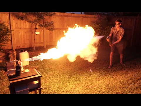 Thumbnail: Liquid Nitrogen Freeze-Ray Vs. Flamethrower