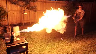 Liquid Nitrogen Freeze-Ray Vs. Flamethrower thumbnail