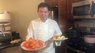Tôm chiên chua ngọt cua Lam Thai