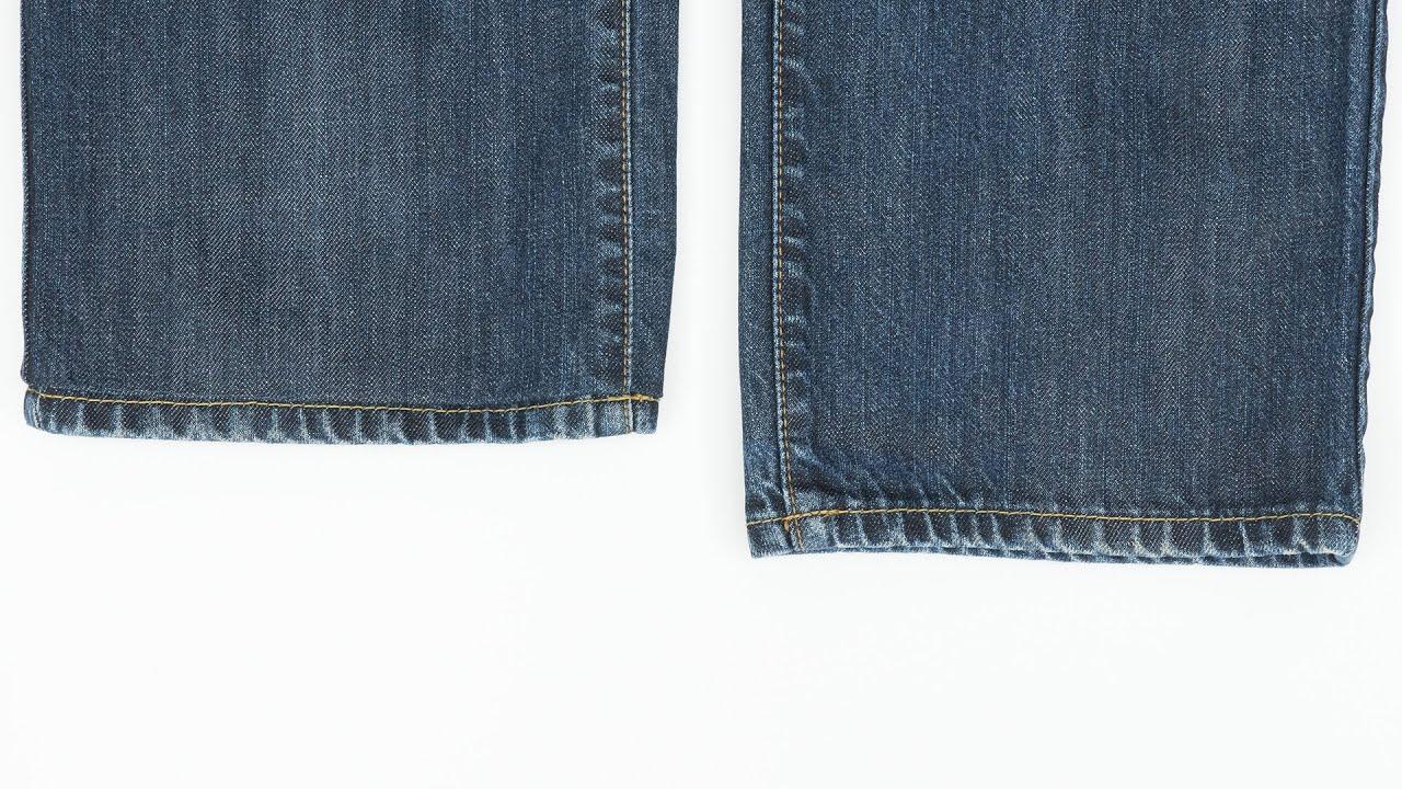 How to Hem Jeans While Keeping Original Hem - YouTube